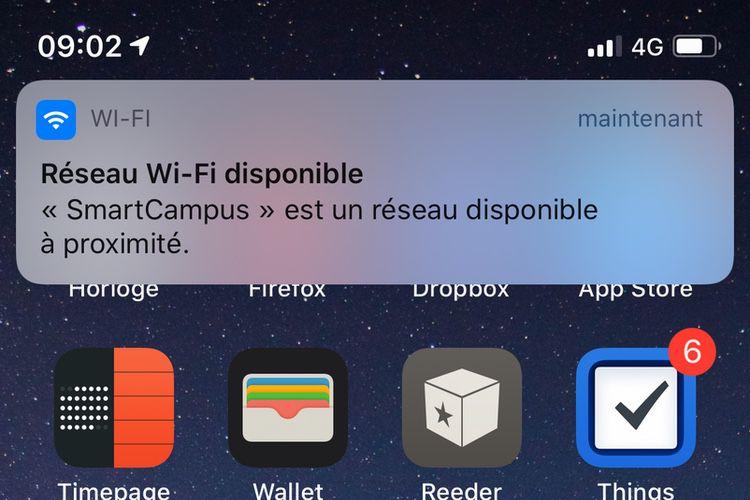 AstuceiOS13: désactiver les notifications de Wi-Fi public à proximité