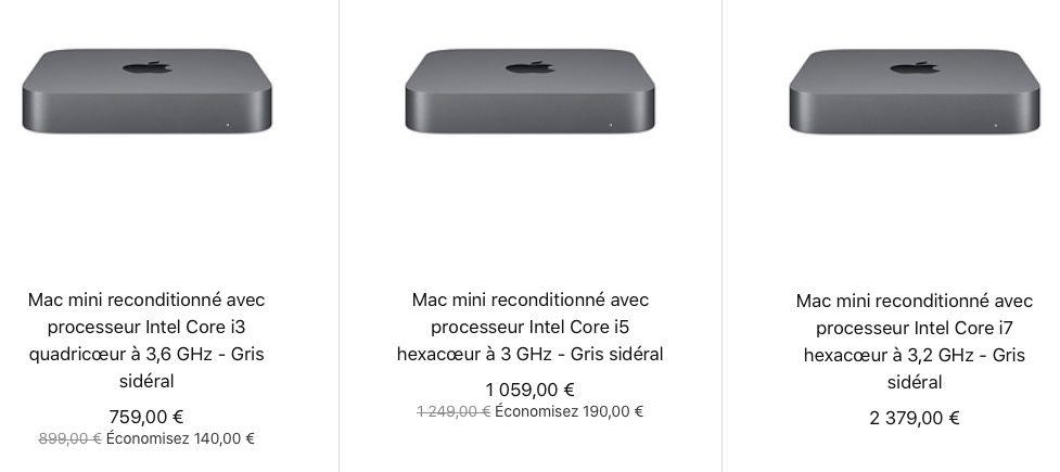Refurb : le retour des Mac mini (759 €) et des Apple TV (139 €)