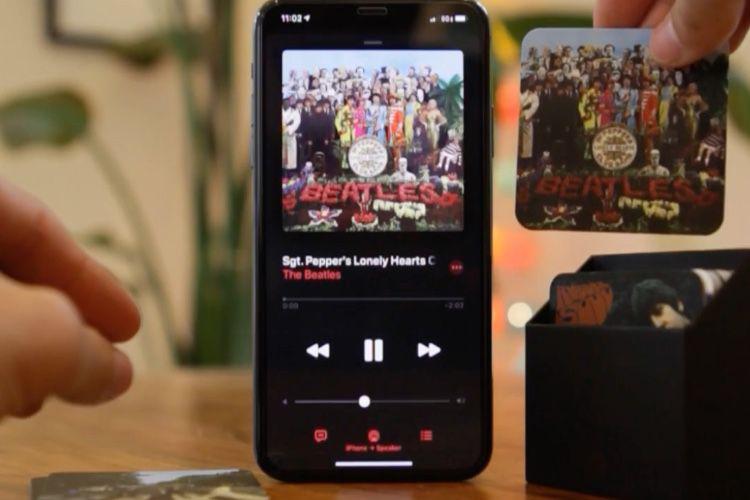 Le NFC et l'app Raccourcis connaissent l'app Musique
