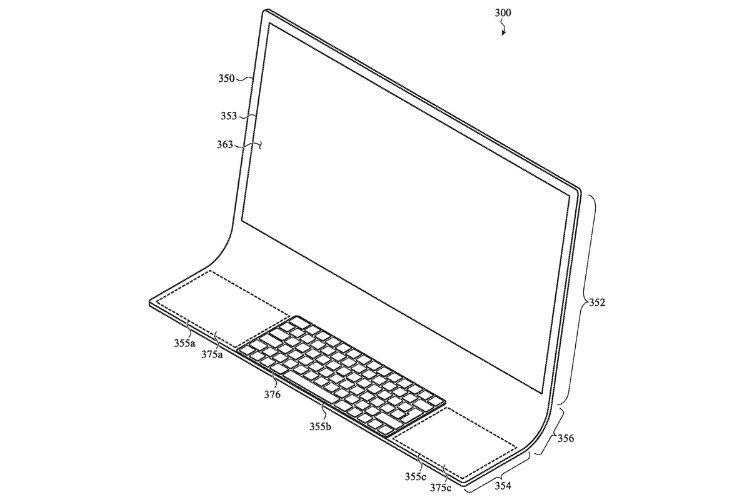 Brevet : un iMac fait d'une feuille de verre courbée