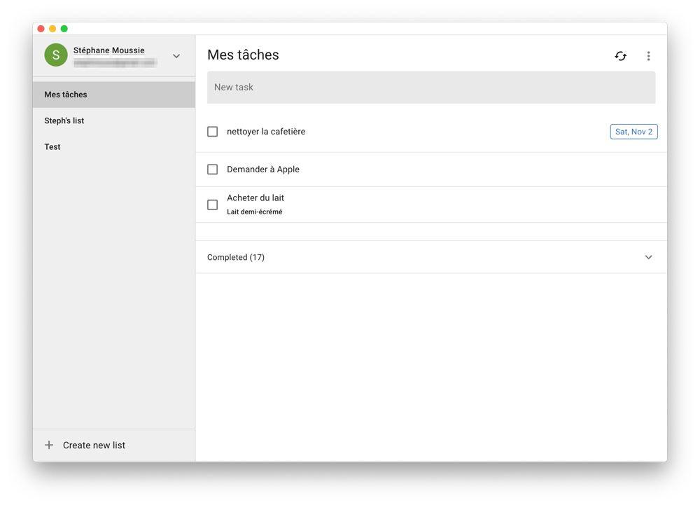 ToDo, un client de bureau multiplateforme pour Google Tasks
