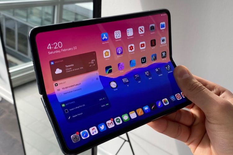 Et si l'iPad pliant ressemblait à ça?
