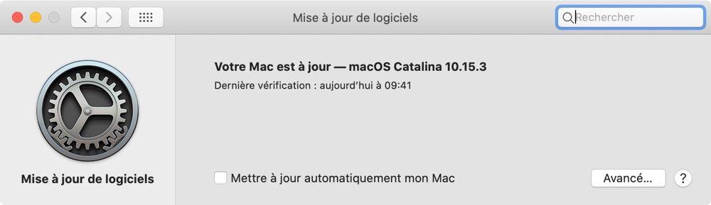 Pour vérifier si votre Mac est à jour, allez dans les Préférences Système puis sur le panneau