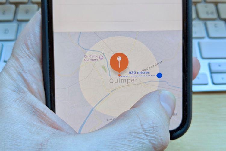 Astuce : utilisez Raccourcis ou Rappels pour respecter la distance maximale d'un km lors de vos déplacements