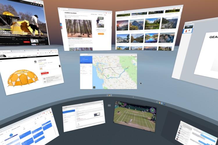 VR-OS, un concept de système d'exploitation en réalité virtuelle