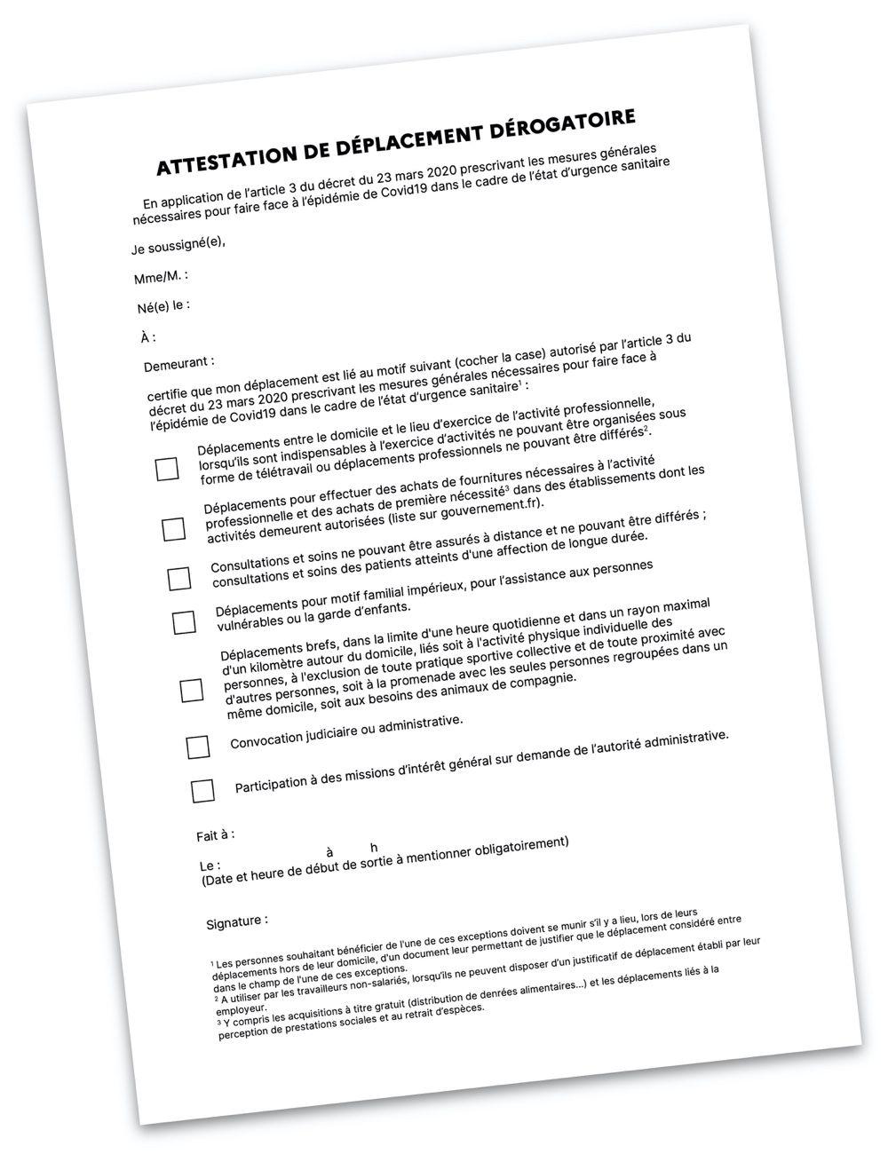 Attestation De Deplacement Une Faillite Du Design Des Services Publics Igeneration