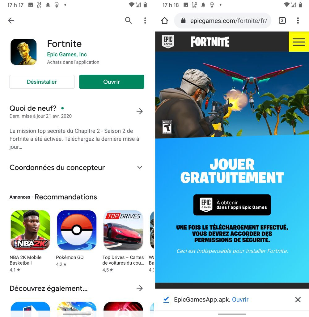 À contrecœur, Epic Games lance Fortnite sur Google Play
