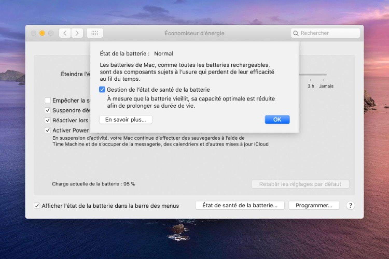 macOS10.15.5 : version finale avec de nouveaux réglages batterie et FaceTime