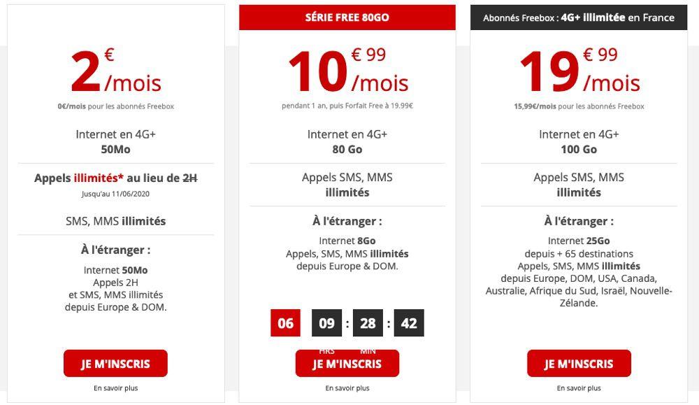 Promo : le forfait Free Mobile 80 Go est à 10,99€ !
