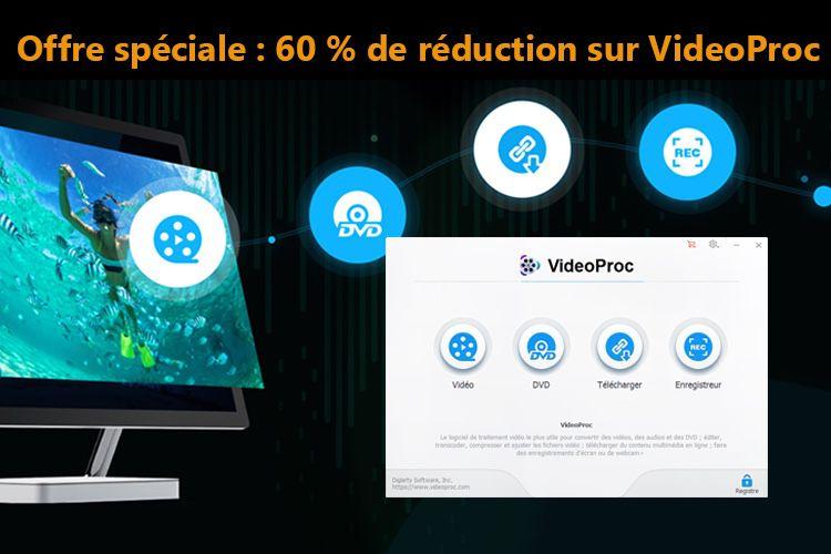 Grosse promo sur VideoProc, le logiciel de traitement vidéo 4K tout-en-un!  📣
