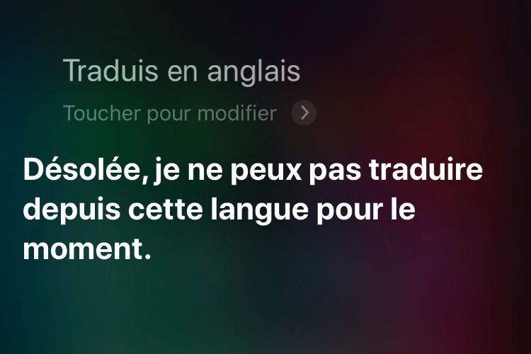 iOS 14 : des traductions dans Safari et Siri en local