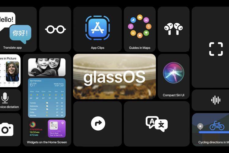 Concept : glassOS, une variante d'iOS14 pour des lunettes de réalité augmentée