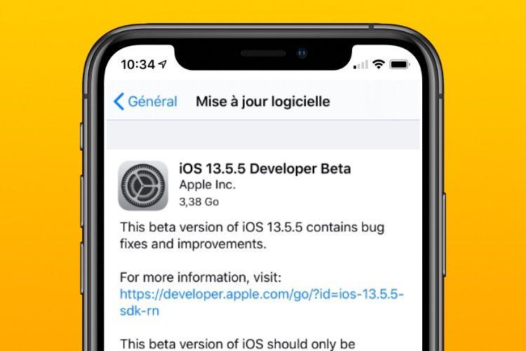 Première bêta pour iOS13.5.5