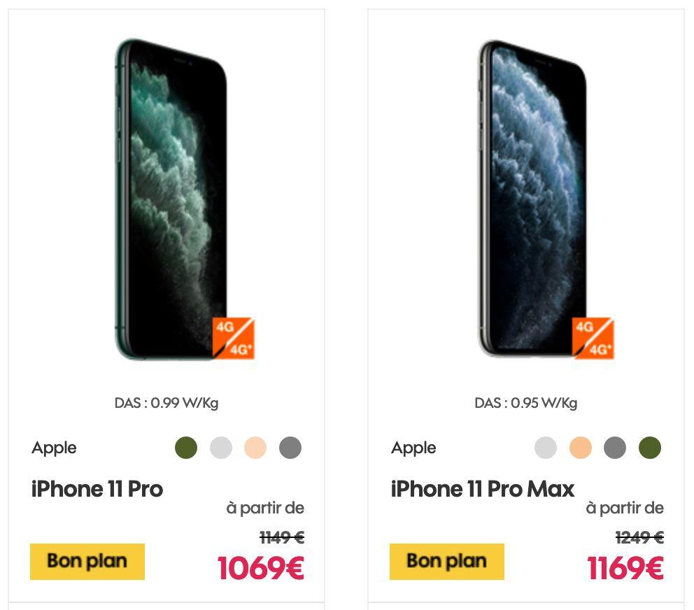 Promo : 80 € de réduction sur les iPhone 11 Pro | iGeneration