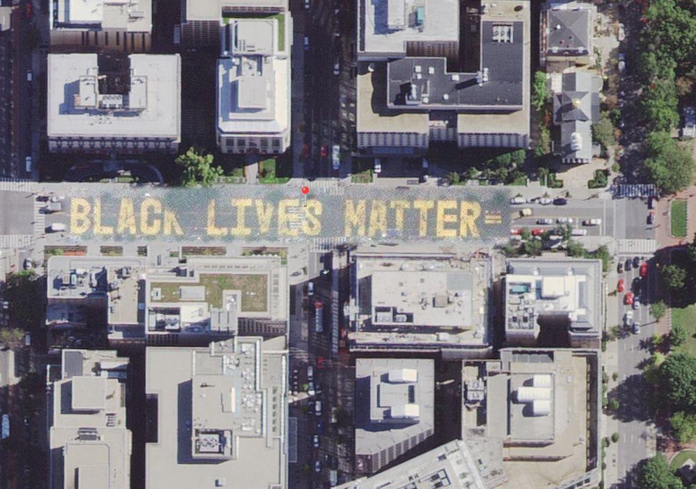 Plans affiche le «Black Lives Matter» devant la Maison Blanche