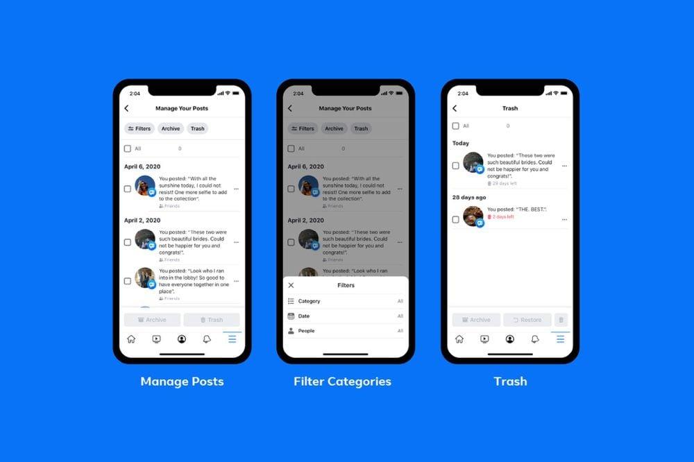 Une nouvelle fonction pour supprimer (rapidement) ses anciennes publications — Facebook