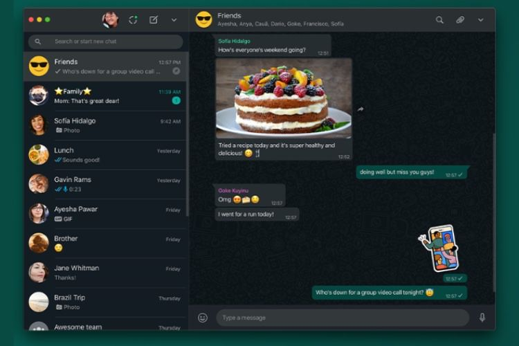 WhatsApp : un mode sombre pour la version de bureau