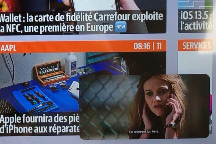 tvOS 14 : le mode image dans l'image s'affiche partout