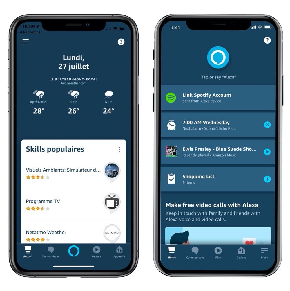Amazon Alexa reçoit une nouvelle application avec des suggestions personnalisées