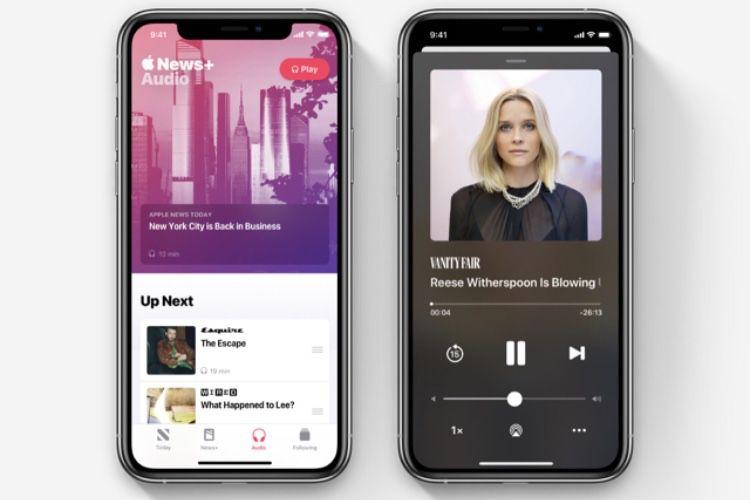 Aperçu des nouveautés audio d'Apple News