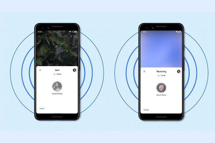 Google lance son équivalent d'AirDrop pour les appareils Android