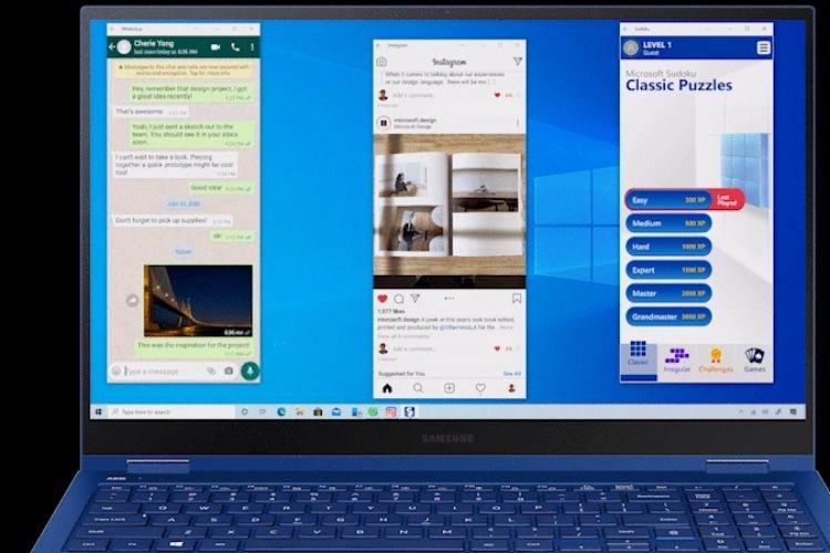 Les apps du Galaxy Note20 pourront être utilisées sous Windows 10 🆕