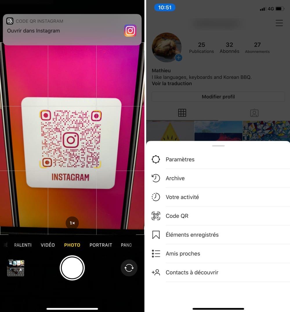 Un code QR universel pour les profils individuels — Instagram