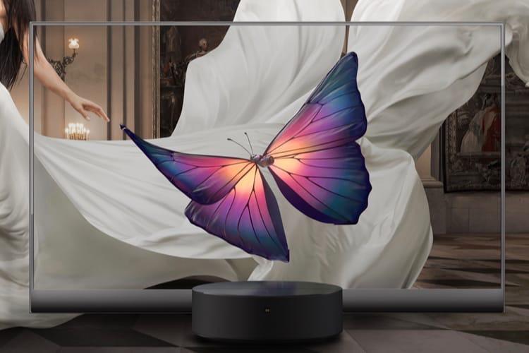 Xiaomi lance une télé transparente en Chine pour plus de 6000€
