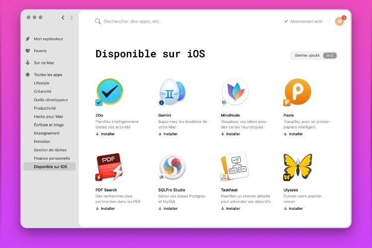 Setapp ajoute des versions iOS à sa location d'apps Mac