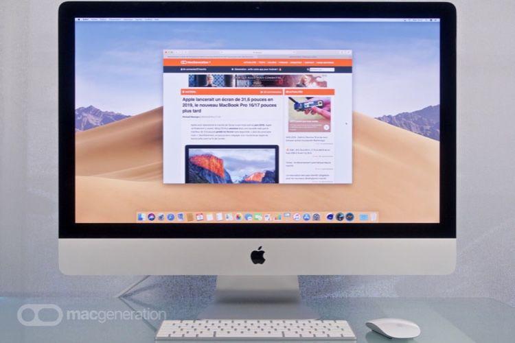 """Test de l'iMac27"""" Retina5K 2020 (Corei5 à 3,1GHz)"""