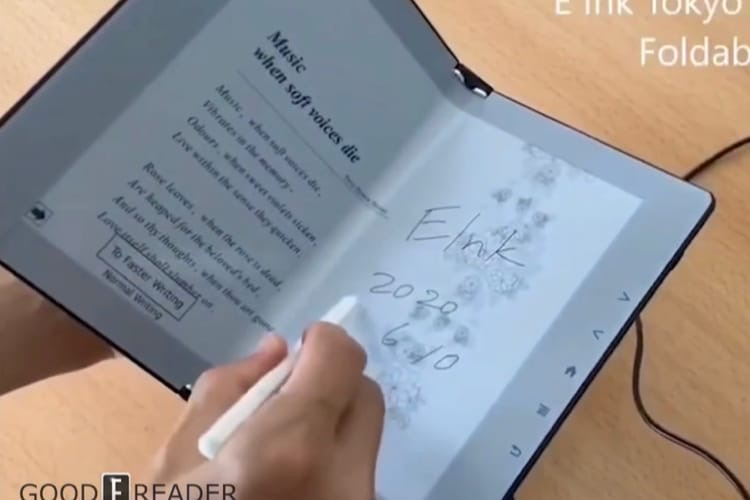 Un prototype d'écran E Ink pliable promet de rapprocher les liseuses des livres