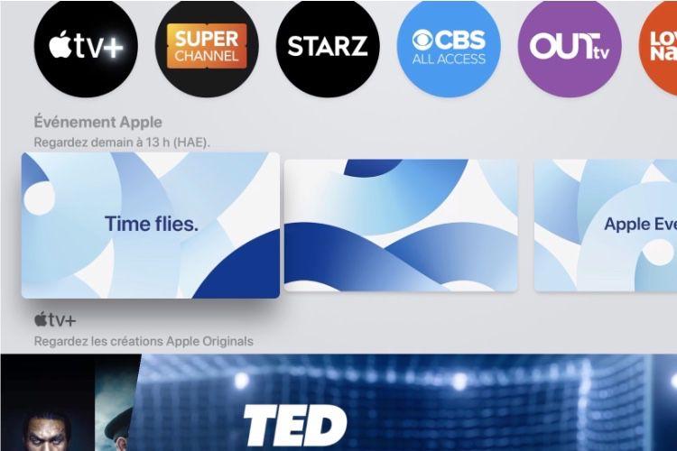video en galerie : Le special event fait un joli économiseur d'écran dans l'app AppleTV