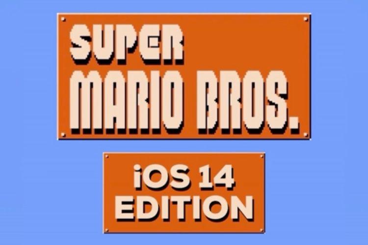 L'écran d'accueil d'iOS 14 est fan de Super Mario et nous aussi