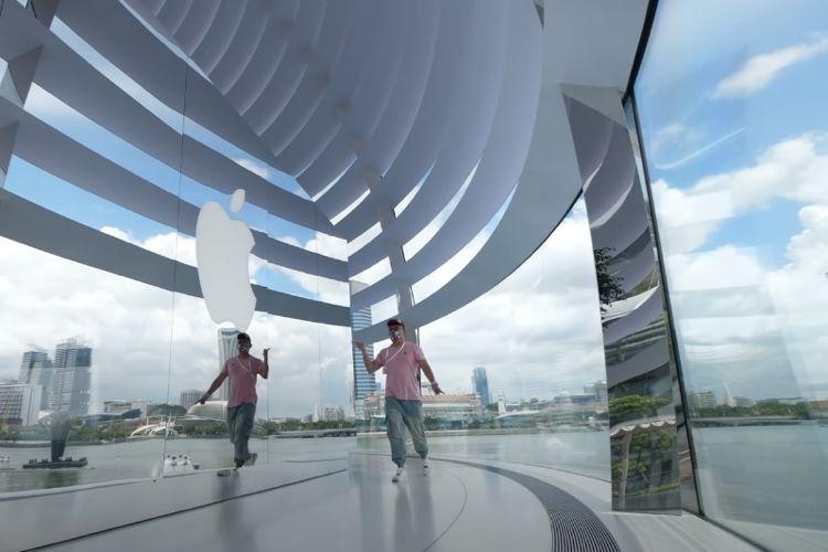video en galerie : Visite en vidéo de l'AppleStore sur l'eau de Singapour