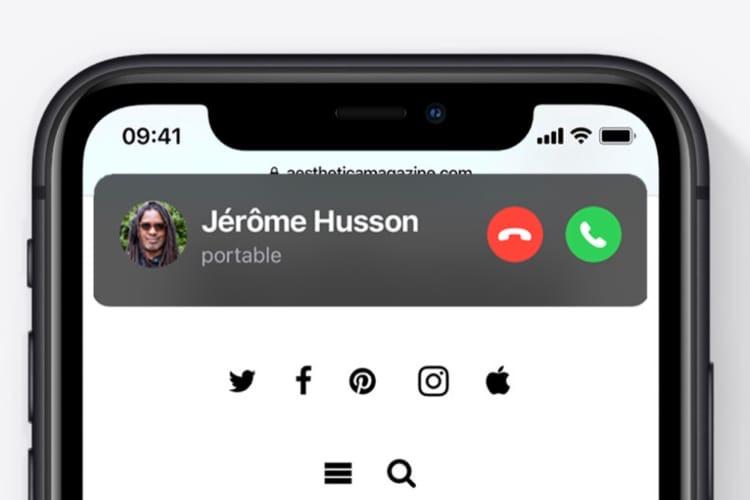 Astuce iOS 14: comment revenir aux appels téléphoniques en plein écran