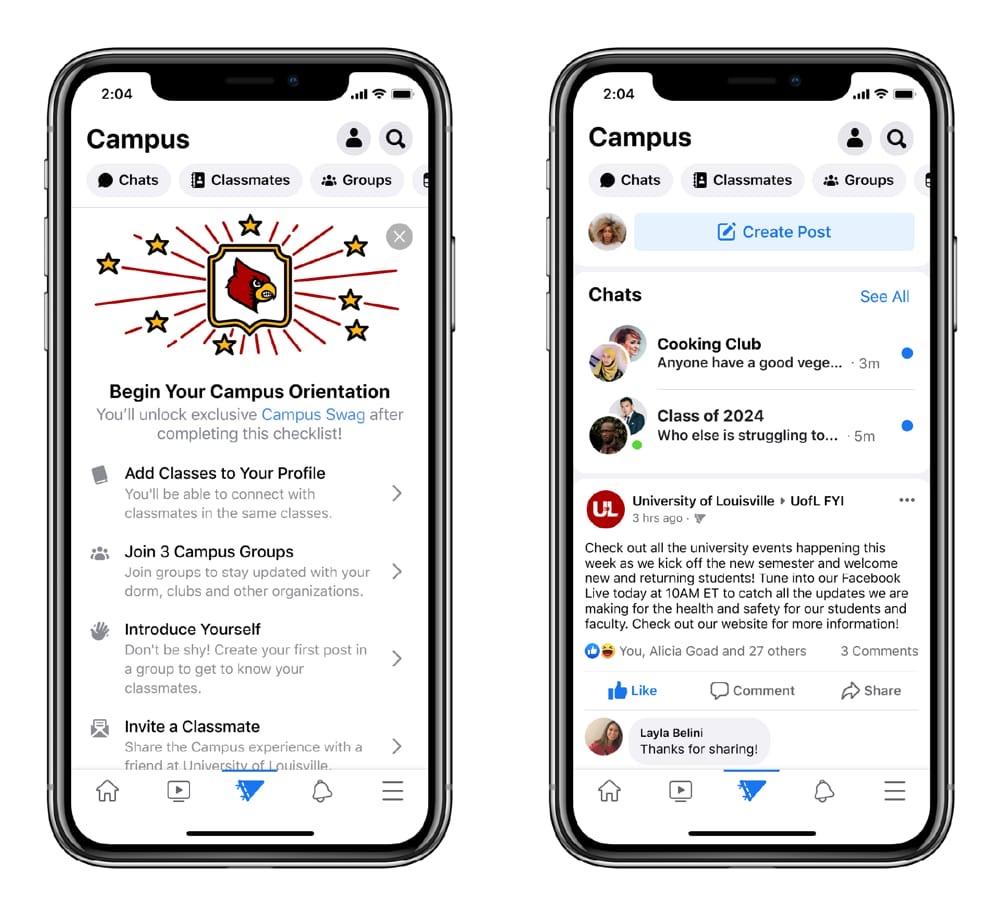 Campus, la version du réseau social pour étudiants, voit le jour — Facebook