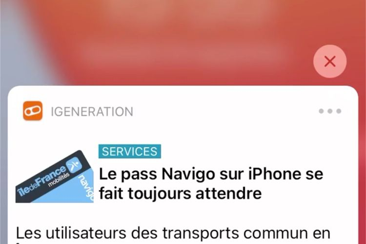iOS 14 offre à l'iPhone SE un Haptic Touch sur les notifications