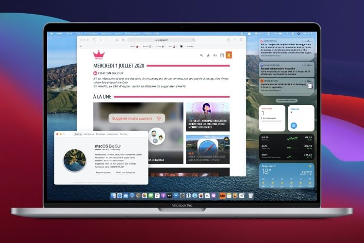Première bêta pour macOS 11.0.1, toujours pas de date pour macOS Big Sur 11.0 🆕