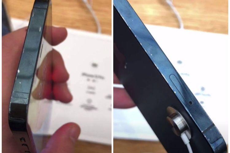 Les tranches de l'iPhone12 noir se marquent aussi facilement que celles de l'iPhone5