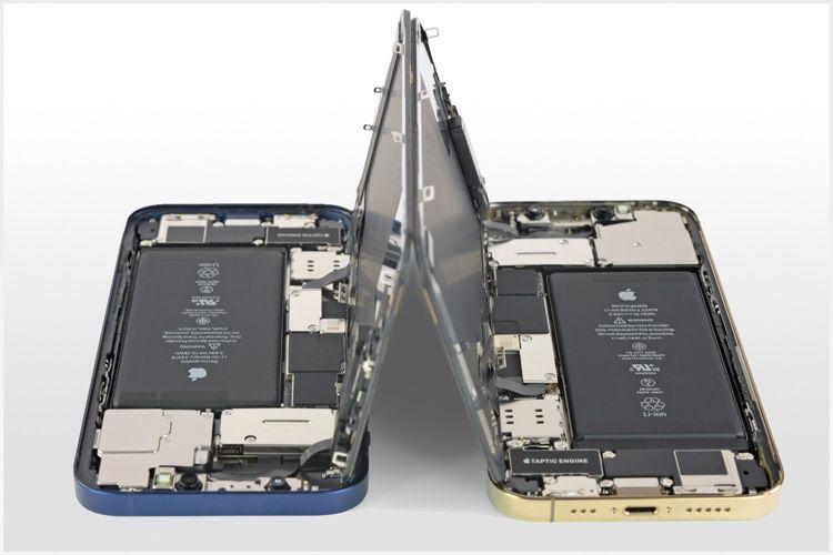 Les iPhone12 et 12Pro sont légèrement plus simples à réparer et largement similaires