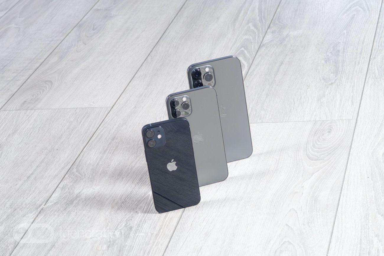 Coup d'œil sur le petit iPhone12 mini et l'énorme iPhone12 Pro Max