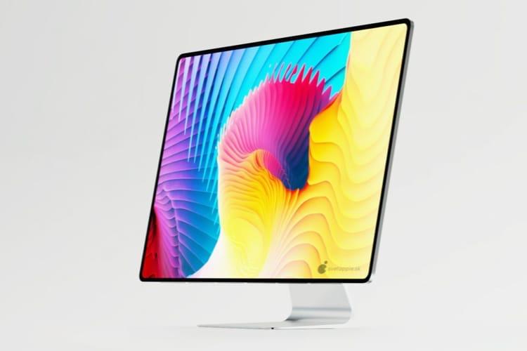 image en galerie : Concept : des iMac sans bordure pour 2021