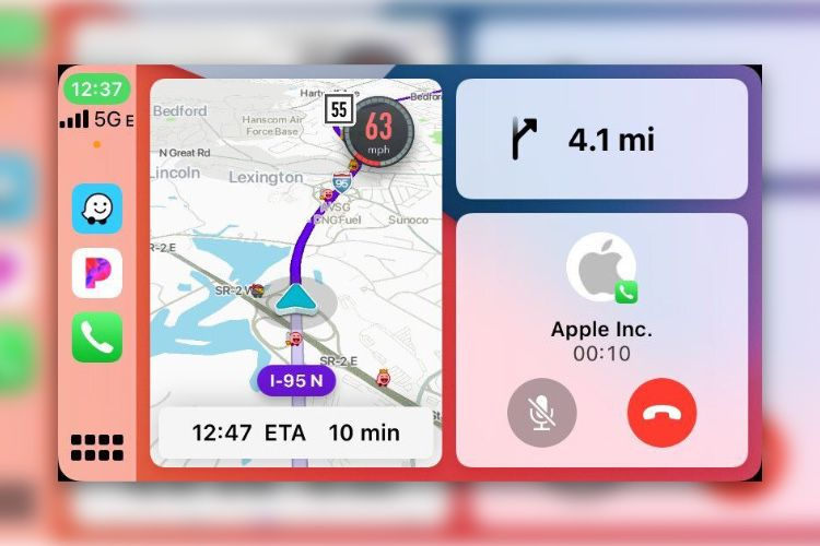 Waze va s'installer sur le tableau de bord de CarPlay