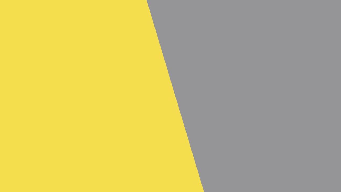 Jaune et gris, peut-être les futures couleurs de l