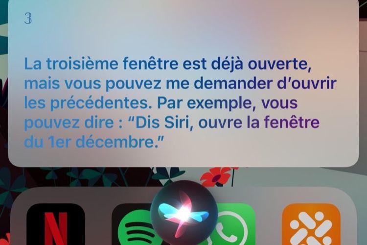Siri ouvre les fenêtres du calendrier de l'Avent