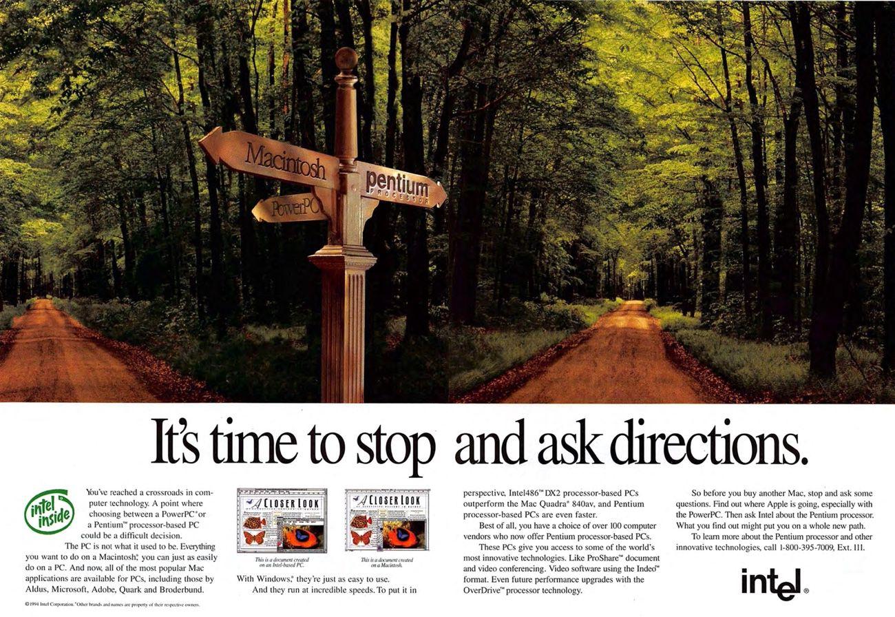 Intel ou Macintosh? Demandez la direction!