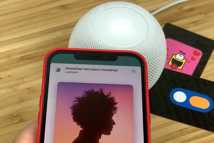 Aperçu du transfert de musique entre iPhone et HomePod mini avec la puce U1