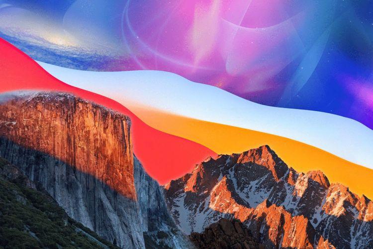 image en galerie : Une composition 4K de tous les fonds d'écran de macOS