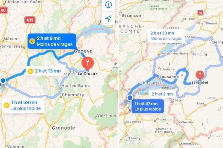 Plans : optez pour les itinéraires avec moins de virages