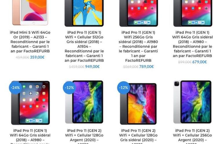 Reconditionné : du choix en iPad 7, iPadmini 5 et iPadPro